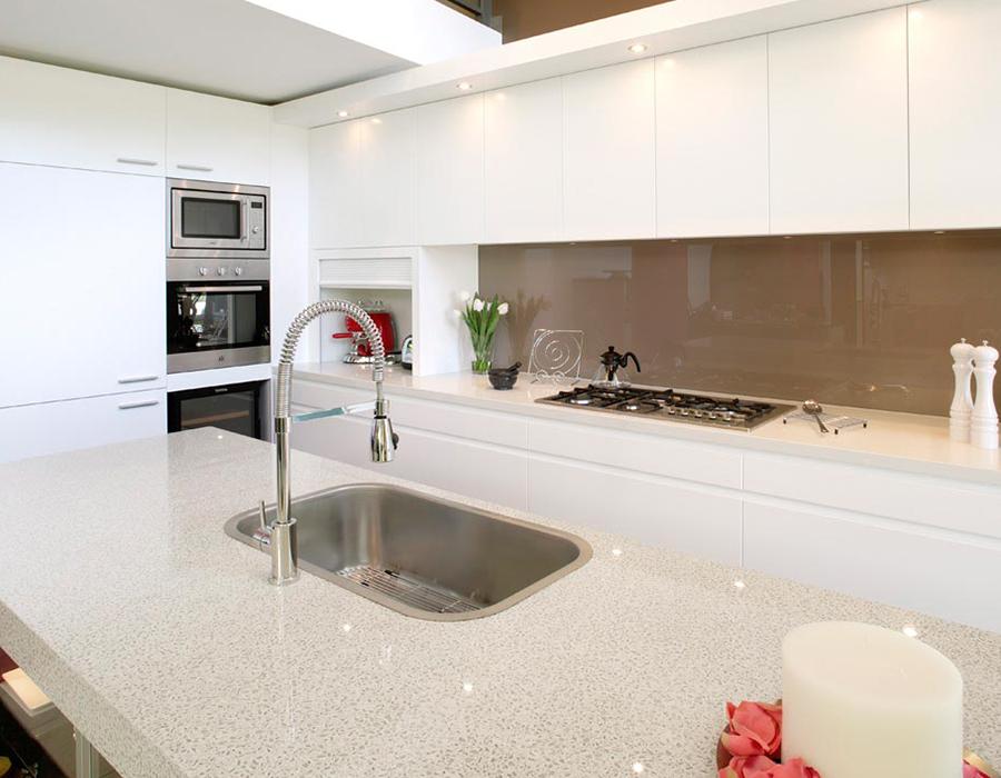 green polyurethane modern kitchen