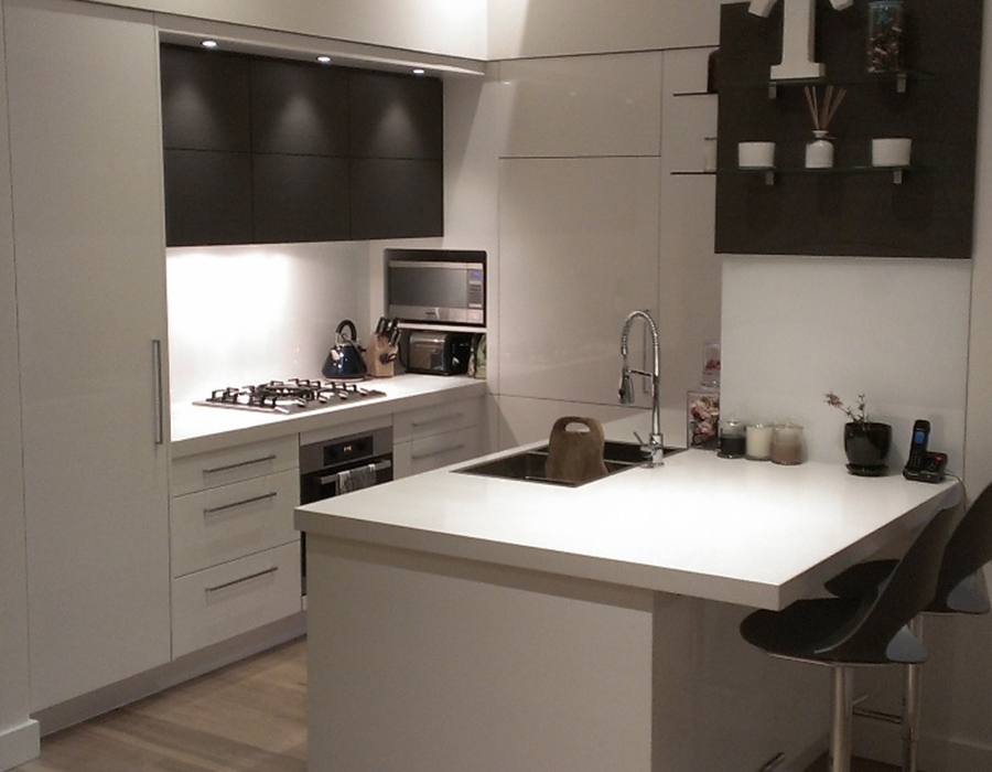 melamine sheen modern kitchen