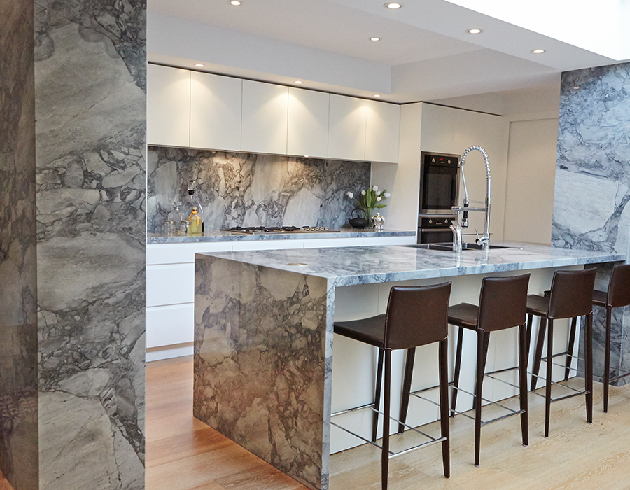 modern stone kitchen in paddington feature