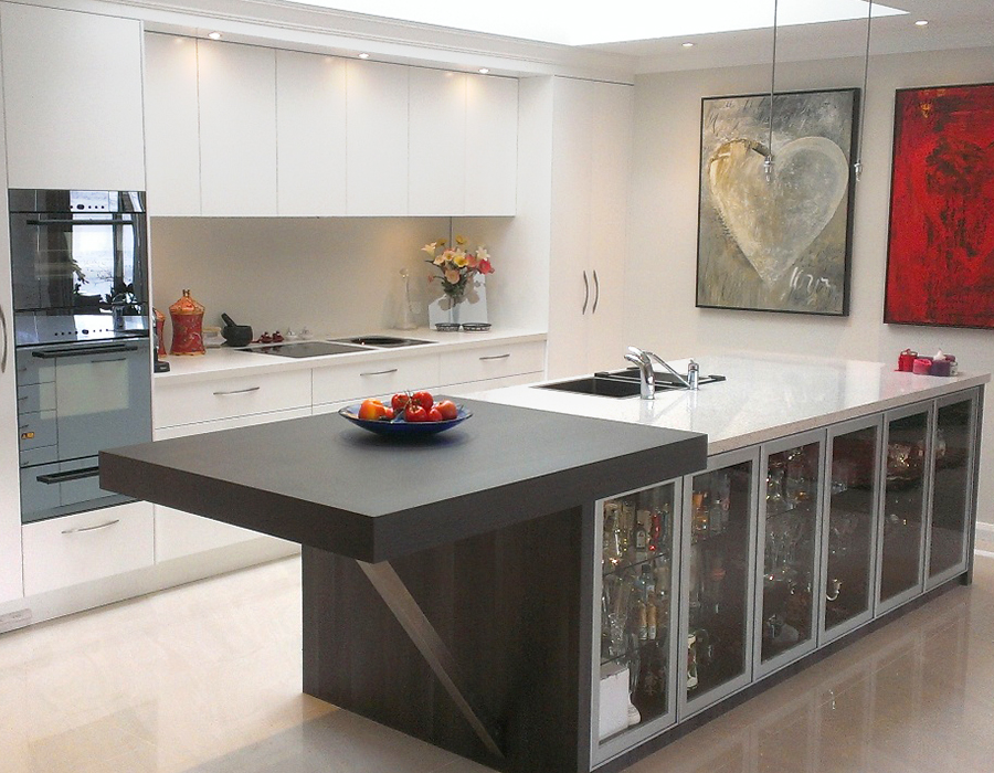 modern bright kitchen